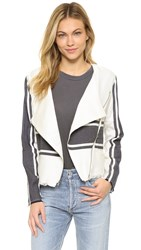 Cupcakes And Cashmere Osmond Stripe Jacket Dirty White