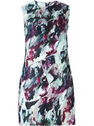 Carven Painted Sleeveless Dress Black