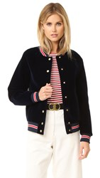 Hilfiger Collection Scuba Varsity Bomber Jacket Deep Well