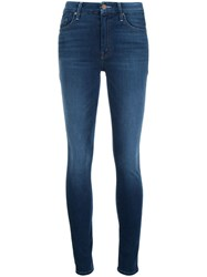 Mother 'Power Play' Skinny Jeans Blue