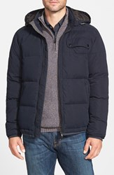 Men's Rodd And Gunn 'Leverett' Water Resistant Quilted Down Jacket With Removable Hood Navy