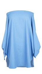 Tibi Neo Twill Off The Shoulder Tunic
