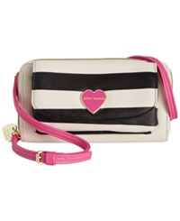Betsey Johnson Macy's Exclusive Wallet On A String Crossbody Stripe