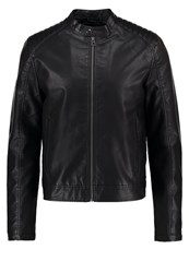 Jack And Jones Jorblack Faux Leather Jacket Black