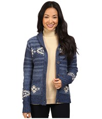 Pendleton Skyview Cardigan Denim Multi Women's Sweater Blue