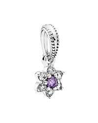 Pandora Design Pandora Dangle Charm Sterling Silver And Cubic Zirconia Forget Me Not Moments Collection
