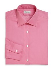 Charvet Solid Silk Dress Shirt Pink
