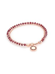 Astley Clarke Biography Garnet And Red Spinel Cosmos Beaded Friendship Bracelet Rose Gold Red