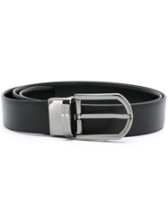 Ermenegildo Zegna Dark Grey Hardware Belt Black