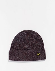 Lyle And Scott Beanie Hat Red