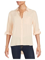 Saks Fifth Avenue Long Sleeve Button Down Shirt Ginger Peach