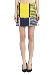Marni Patterned Mini Skirt Yellow