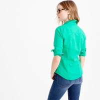 J.Crew Petite Perfect Shirt In Cotton Linen