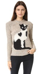 N 21 Cat Sweater Oatmeal