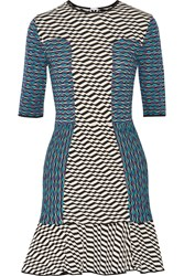 M Missoni Jacquard Knit Cotton Blend Mini Dress