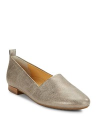 Paul Green Anita Textured Leather Loafers Grey