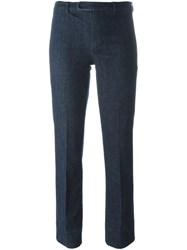 'S Max Mara Cropped Tailored Jeans Blue