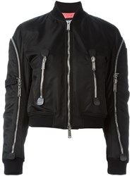 Dsquared2 Zip Detail Bomber Jacket Black