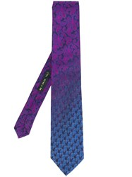 Etro Owl Tie Pink And Purple