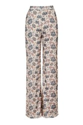 Floral Wide Leg Trouser By Love Multi