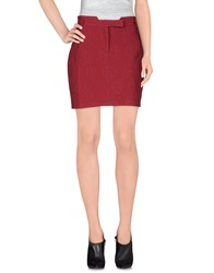 Naf Naf Mini Skirts Maroon