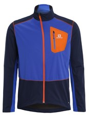 Salomon Equipe Sports Jacket Big Bluex Blue Yonder Vivid Orange