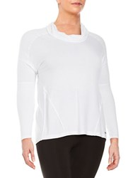 Marc New York Cowlneck Pullover Top White