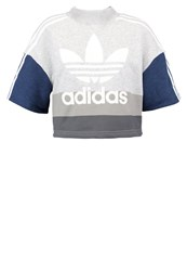 Adidas Originals Sweatshirt Collegiate Navy Light Grey Heather White Multicoloured