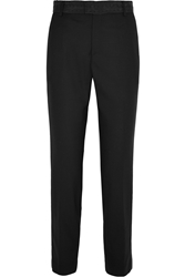 Band Of Outsiders Faille Trimmed Wool Piqua Tapered Pants
