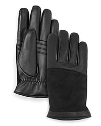 Ugg Leather Combo Tech Gloves Black
