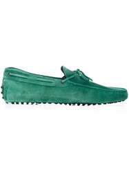 Tod's Classic Boat Shoes Green