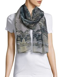 Collection 18 Sheer Paisley Scarf Natural