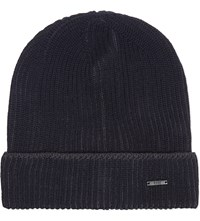 Hugo Boss Benzo Wool Beanie Navy