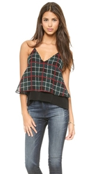Lovers Friends Poppy Camisole Plaid