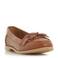 Head Over Heels Gizzy Eyelet Loafers Tan