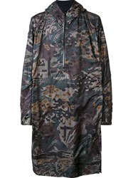11 By Boris Bidjan Saberi Camouflage Pullover Raincoat Green