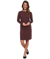 Carve Designs Long Sleeve Shore Dress Spice Stripe Women's Dress Brown