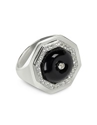 Sho London Black Agate Clementina Ring