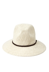 Forever 21 Braided Fedora Cream Brown