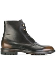 Doucal's Combat Boots Brown