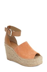Women's Marc Fisher Ltd 'Adalyn' Espadrille Wedge Sandal Orange Suede