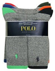 Polo Ralph Lauren Tipped Sport Crew Socks Set Grey