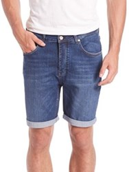 Wesc Conway Jean Shorts Blue