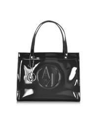 Armani Jeans Patent Eco Leather Tote