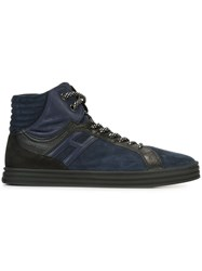 Hogan Rebel Panelled Hi Top Sneakers Blue
