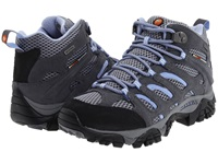Merrell Moab Mid Waterproof Grey Periwinkle Women's Hiking Boots Gray