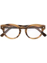 Mcm Round Frame Glasses Nude And Neutrals