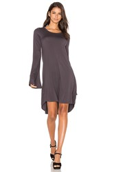 Michael Lauren Kipp Mini Dress Grey