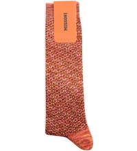 Missoni Metallic Cotton Blend Long Socks Pink 0003