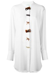 J.W.Anderson Bow Button Shirt Dress White